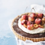 Chocolate Cherry Tart with Cardamom Cream | Teak & Thyme