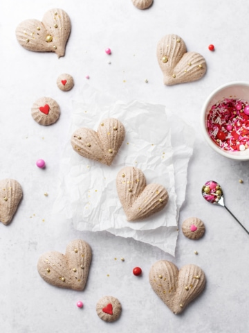 Heart-Shaped Chocolate Meringues | Teak & Thyme