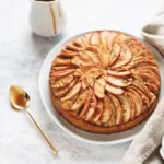 Spiced Apple Cake with Salted Maple Caramel Drizzle | Teak & Thyme
