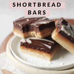 Shortbread bar with bite taken out of it