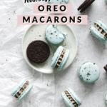 Macarons and oreos on plate