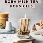 Popsicle in a glass of bubble tea