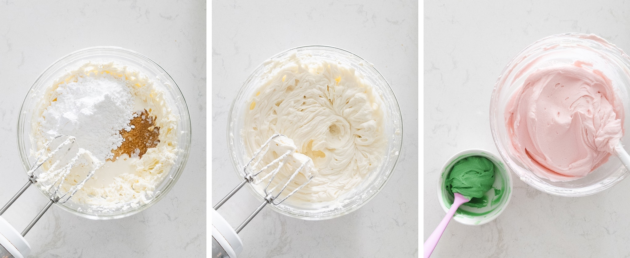 Whipping cream cheese frosting with beater